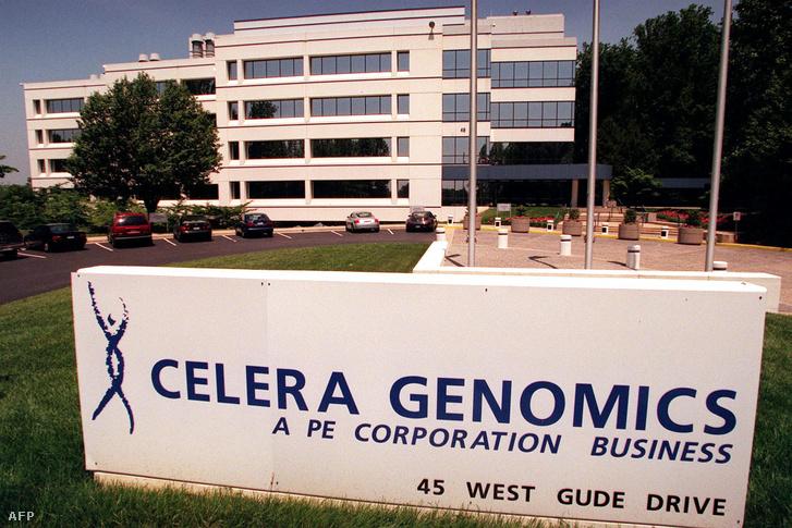 A Celera székhelye Rockville-ben 2000. május 31-én.