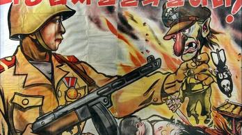 Plakátokon, képregények lapjain is folyt a gyilkos harc Koreában