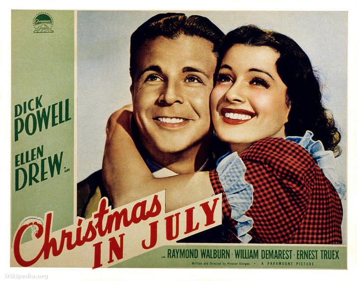 Az 1940-es Júliusi karácsony című film plakátja.