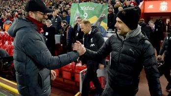 Guardiola: Megérdemelt a Liverpool bajnoki címe
