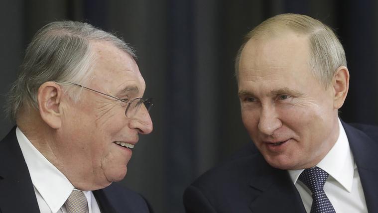 Klaus Mangold és Vlagyimir Putyin.