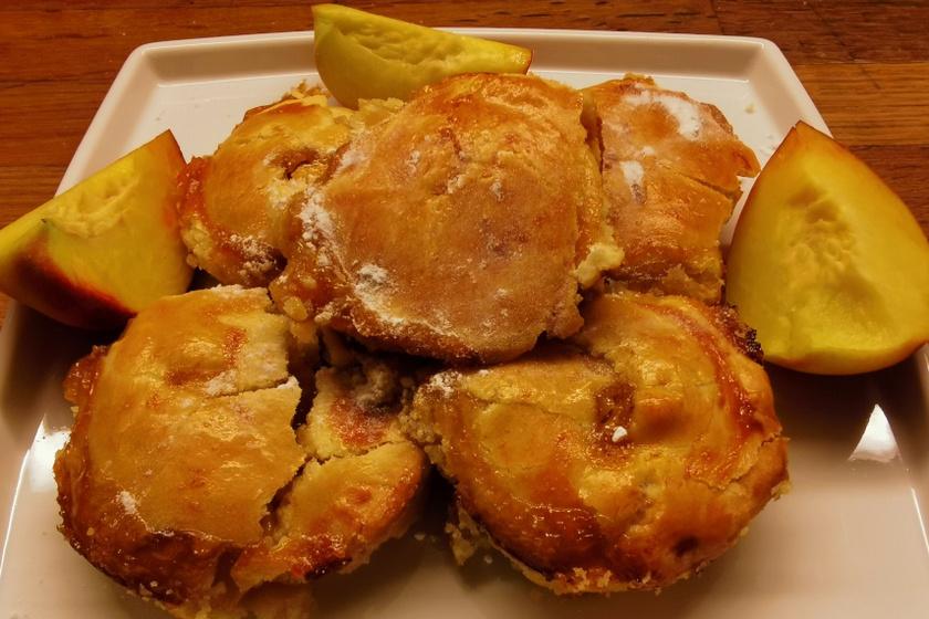 mini őszibarackos pite recept
