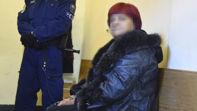 D. Sándorné, a Kun-Mediátor Kft. csalás miatt keresett, Belize-ben elfogott vezetője 2016. december 16-án a Szolnoki Törvényszéken, ahol előzetes letartóztatásáról dönt a bíróság. A nő Bróker Marcsi néven vált ismertté. MTI Fotó: Mészáros János