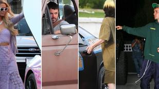 Ez a hat híresség elég furcsa járgánnyal furikázik