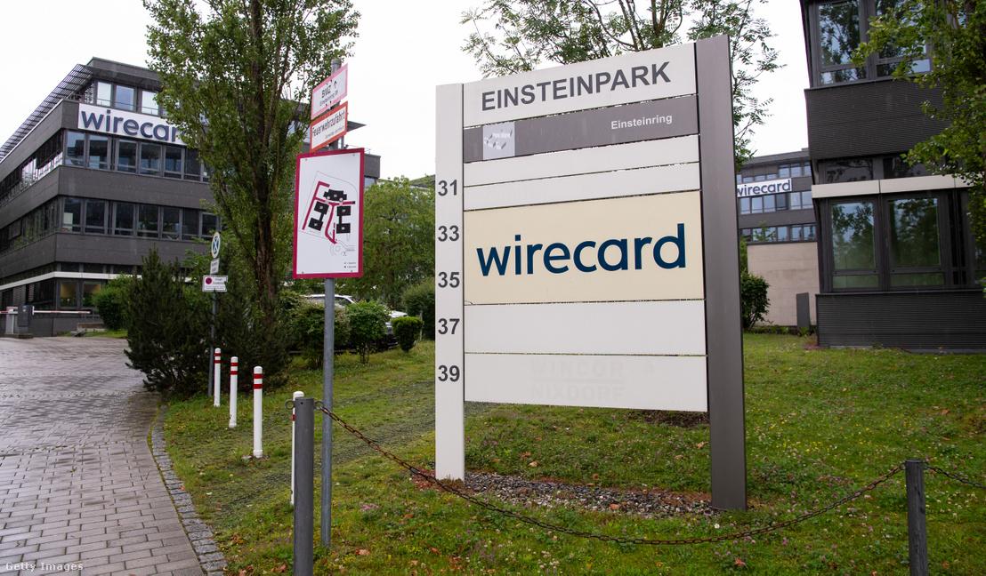 A Wirecard központi irodaháza a München közelében fekvő Aschheimben 2020. június 25-én