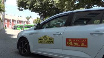 Gázpisztolyt fogtak egy taxisra Pécsen