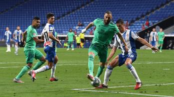 A Real Madrid két ponttal leelőzte a Barcelonát