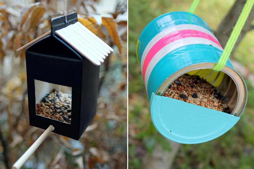 Könnyen elkészíthető, mutatós madárhotel a téli kertbe: imádni fogják az apró lakók