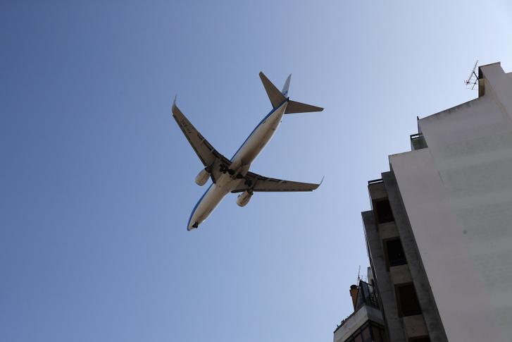 Leszálló repülőgép Hollandiában