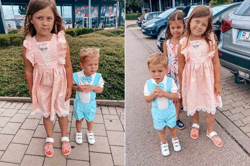 A hatéves Ariana csinos, kétéves kisöccse pedig tündérien elegáns volt a szülinapi zsúron.
