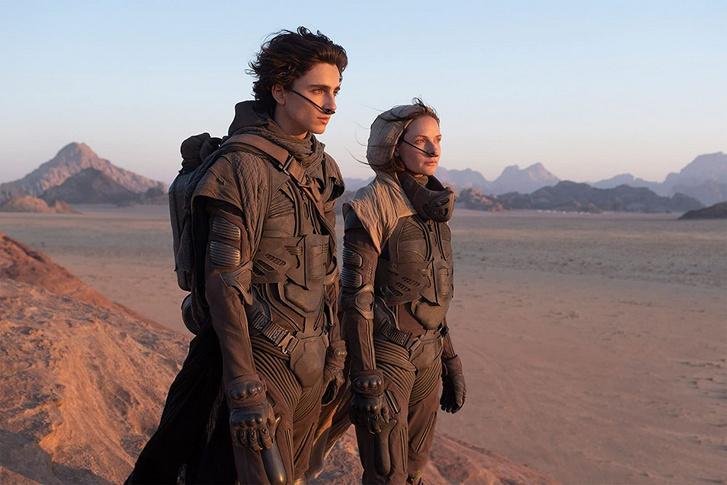 Timothée Chalamet és Rebecca Ferguson a Dűne című filmben.