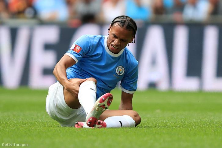 Leroy Sané sérülése 2019. augusztus 4-én a Liverppol elleni Community Shield-meccsen, a londoni Wembley-stadionban.