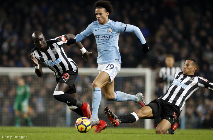 Leroy Sané a Newcastle United elleni bajnokin 2018. január 20-án, Manchesterben.