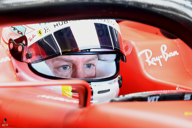 Sebastian Vettel 2020. február 20-án Barcelonában.