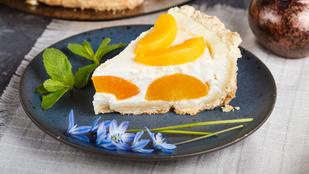Szobrozzon a sütő mellett más: barackos-kókuszos sajttorta sütés nélkül