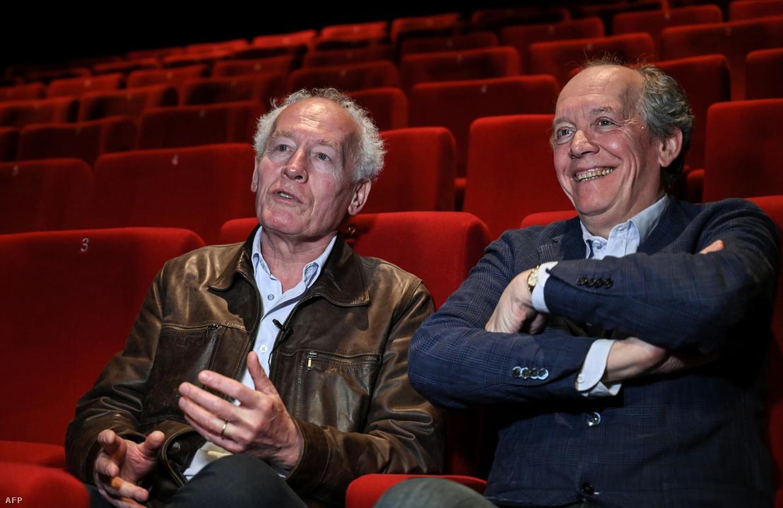 Jean-Pierre és Luc Dardenne egy interjú közben Brüsszelben 2019-ben.