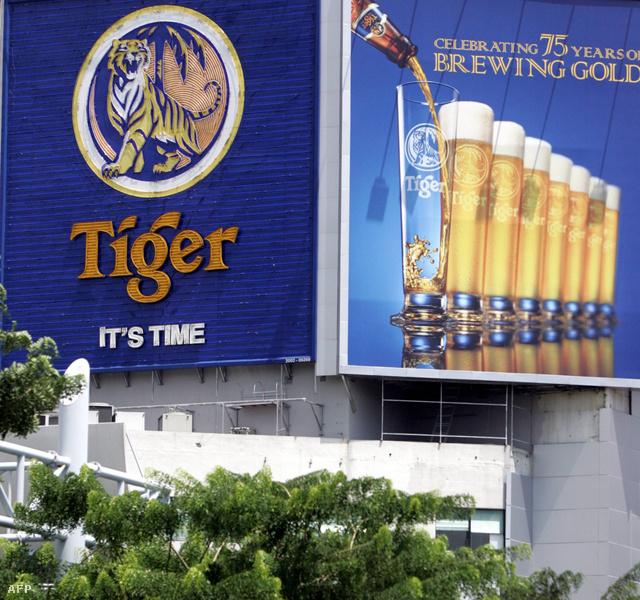 A Tiger sör hirdetése Szingapúrban