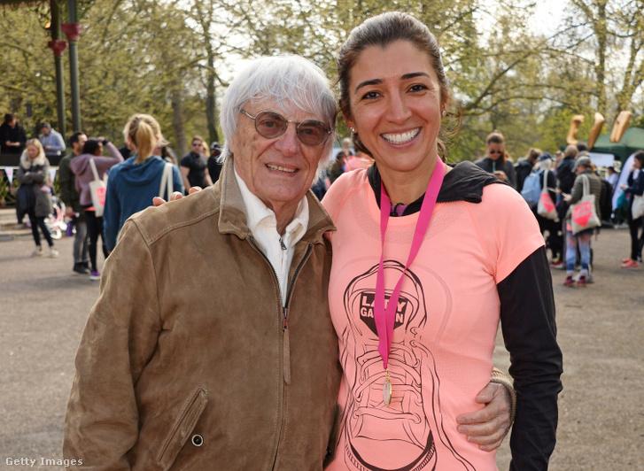 Ecclestone és a felesége, Fabiana Flori