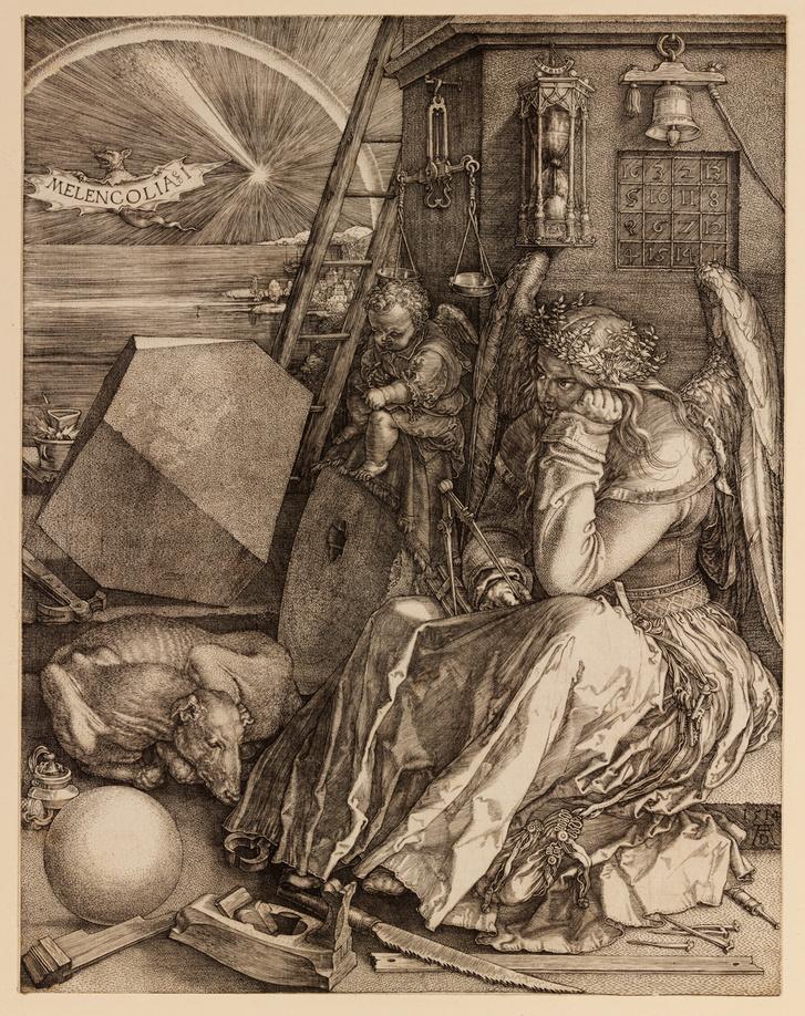 Albrecht Dürer: Melencolia I, 1514, rézmetszet