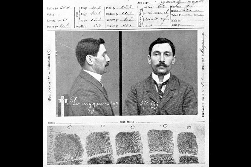 A kép elrablója múzeumban tevékenykedő szakember, Vincenzo Perruggia: üvegvitrineket készített a kiállított műalkotásoknak.