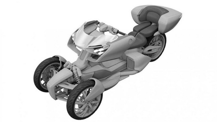 Hibrid trike-ot védetett le a Yamaha