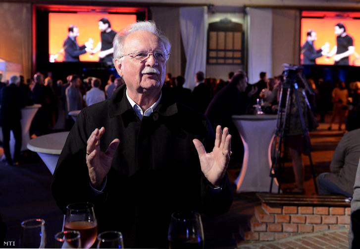 Balázs Péter a százéves Filmgyár jubileumi ünnepségén a Mafilm Róna utcai telepén 2017. szeptember 7-én.