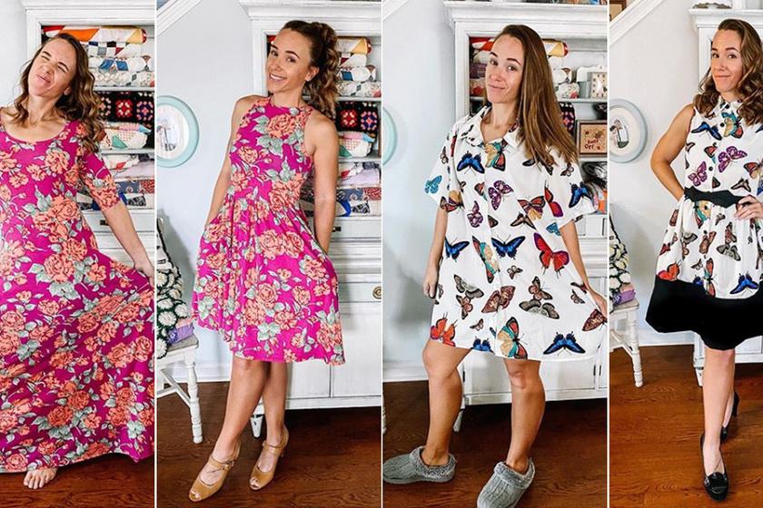 Használt ruhákból varázsol új, divatos darabokat a fiatal nő: előtte-utána képeken mutatja meg az átalakításokat