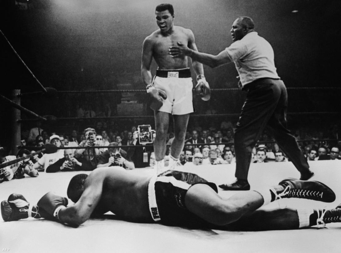Sonny Liston veresége Muhammad Alival szemben 1965-ben.