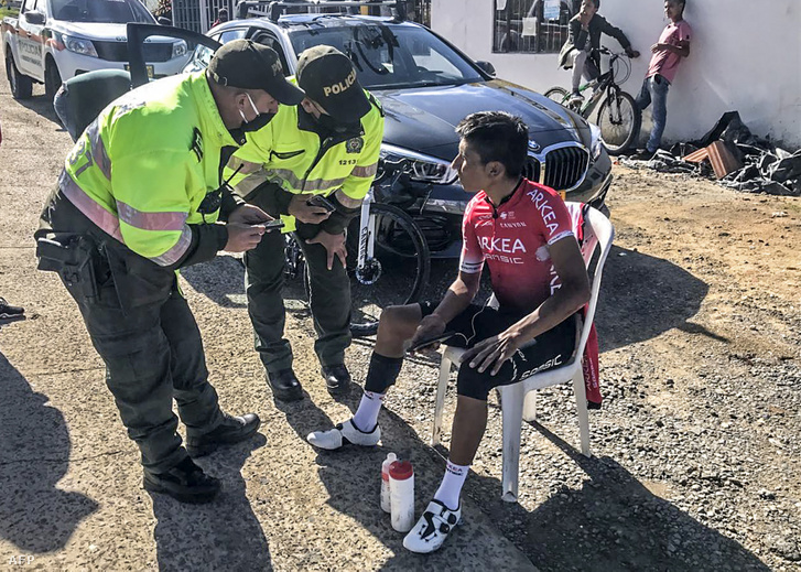 Nairo Quintana a pénteki baleset után