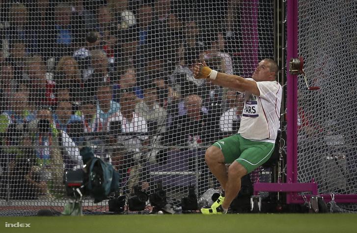 Pars Krisztián a 2012-es londoni olimpián dob augusztus 5-én