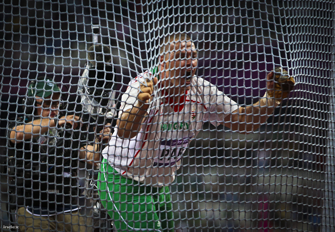 Pars Krisztián dobása után a 2012-es olimpián