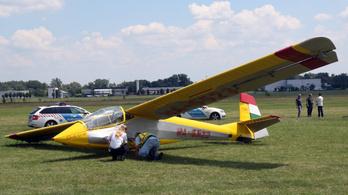 Lezuhant egy vitorlázó repülőgép Miskolcon