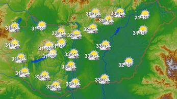 Hétfőn hidegfront jön, mérséklődik a hőség