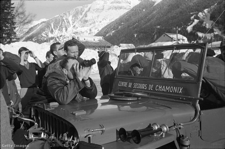 Keresőcsoport a Mont Blanc-nál 1966-ban