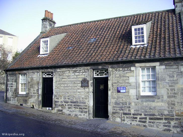 Andrew Carnegie szülőháza a skóciai Dunfermline-ban
