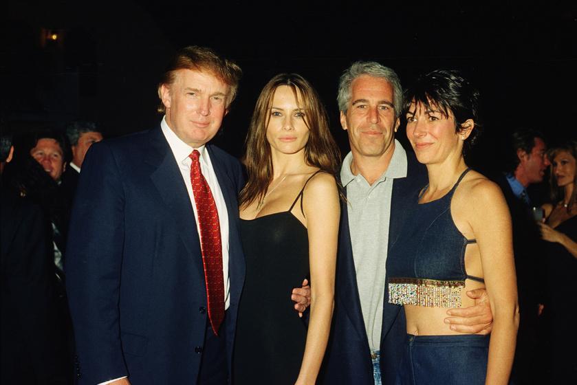 Donald és Melania Trump, Jeffrey Epstein és Ghislaine Maxwell.