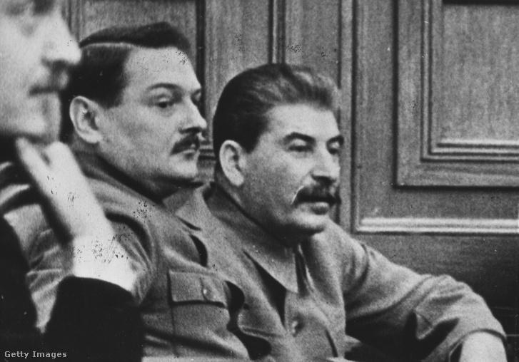 Andrej Alekszandrovics Zsdanov és Sztálin 1945-ben