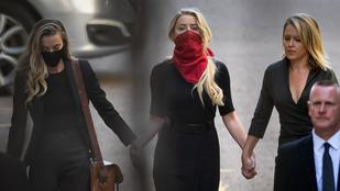 Amber Heard a csajával és a húgával érkezett Johnny Depp perének tárgyalására