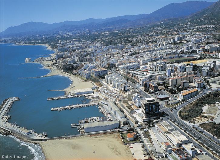 Marbella város légi felvétele