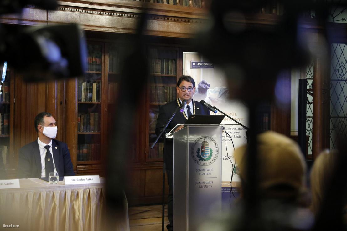 Merkely Béla beszélt a H-UNCOVER nevű az országos reprezentatív koronavírus tesztprogram eredményeiről 2020. július 1-én