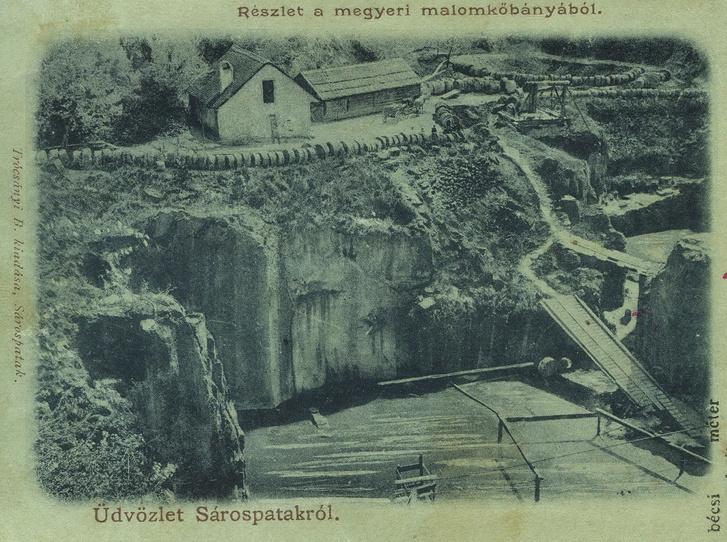 Egy régi képeslap tanúsága szerint így nézett ki régen a bánya - forrás: tengerszeminfo.hu