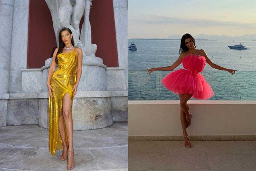 Gigi Hadid bébizsiráfpózban és Kendall Jenner flamingópózban