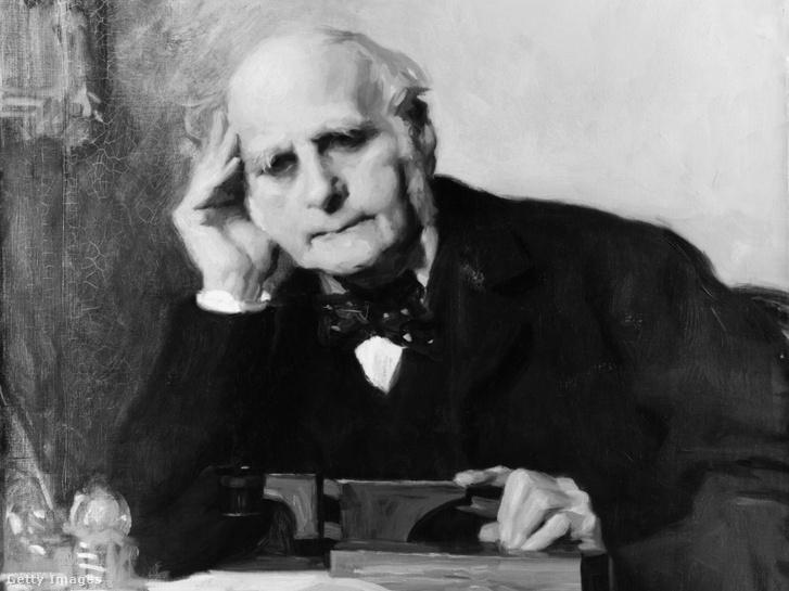 Festmény Sir Francis Galtonról (1822-1911)