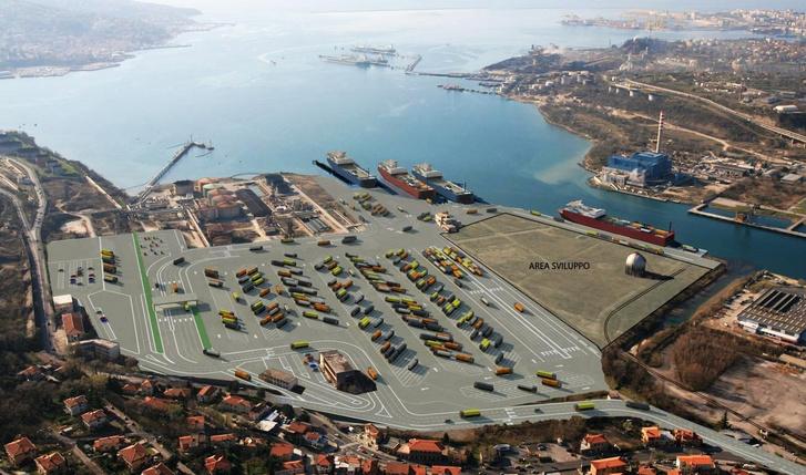A trieszti magyar kikötő látványterve