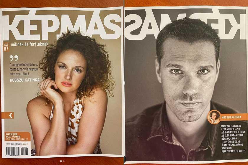 A Képmás magazin 2020 júliusi számának címlapján Hosszú Katinka, a hátoldalán a párja szerepel.