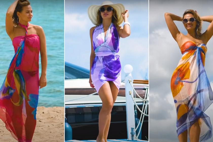 Így varázsolhatsz nőies nyári ruhákat egy nagy kendőből: mutatjuk, hogy viselheted 44-féleképpen