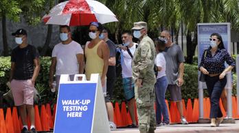 Egy nap alatt 64 ezer új fertőzöttet diagnosztizáltak az USA-ban