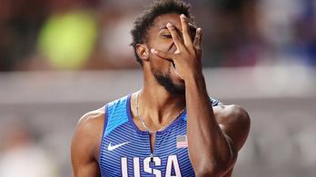 Úgy tűnt Lyles megdöntötte Usain Bolt világcsúcsát, de elmérték