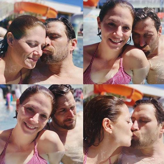 Szinetár Dóra és Makranczi Zalán így váltott lopott csókot a júliusi kánikulában.