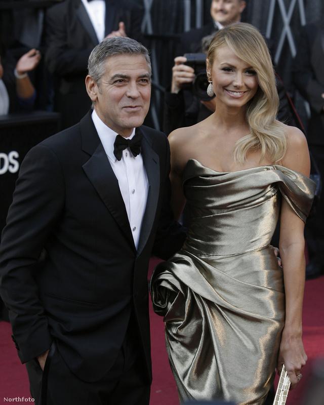 George Clooney és Stacey Keibler